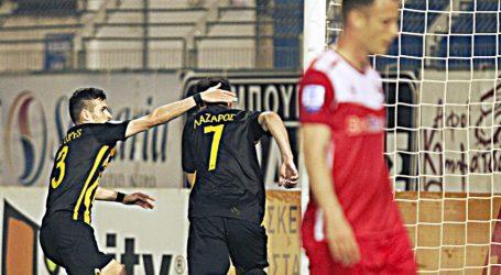 Super League | Διπλό στα Περιβόλια και ένα βήμα πιο κοντά στον τίτλο η ΑΕΚ (vid)