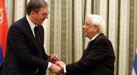 To αίτημα για την επιστροφή των Γλυπτών του Παρθενώνα έθεσε ο ΠτΔ κατά την προσφώνησή του στο δείπνο προς τιμήν του Προέδρου της Σερβίας