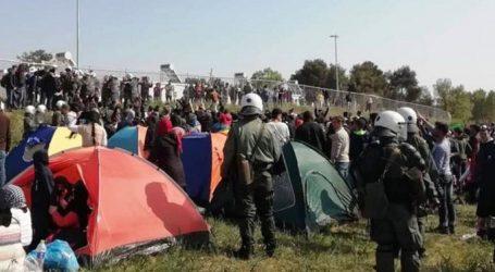 Διαβατά: Περίπου 500 πρόσφυγες έχουν κατασκηνώσει έξω από τη δομή φιλοξενίας – Ισχυρή αστυνομική δύναμη