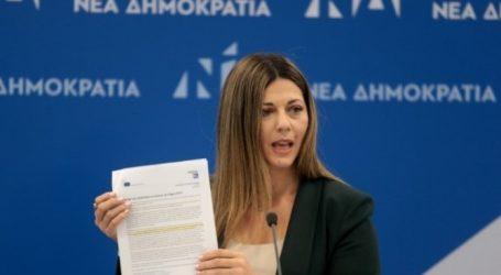 Ζαχαράκη: Η ΔΕΗ οδηγείται στην καταστροφή με ευθύνη ΣΥΡΙΖΑ