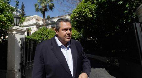 Καμμένος: Εκλογές ή κυβέρνηση εθνικής ενότητας μέχρι τον Οκτώβριο