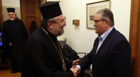 Συνάντηση Κουτσούμπα-αντιπροσωπείας του Οικουμενικού Πατριαρχείου