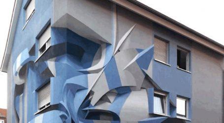 Μια «αναμορφική» τοιχογραφία σε κατοικία στο Μανχάιμ της Γερμανίας