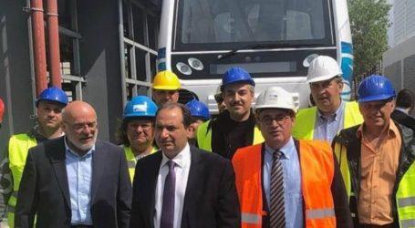 Μετρό της Θεσσαλονίκης: Στις ράγες στο αμαξοστάσιο της Πυλαίας, ο πρώτος συρμός