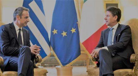 Εληνοϊταλική ενεργειακή συμφωνία υπέγραψαν Μητσοτάκης – Κόντε