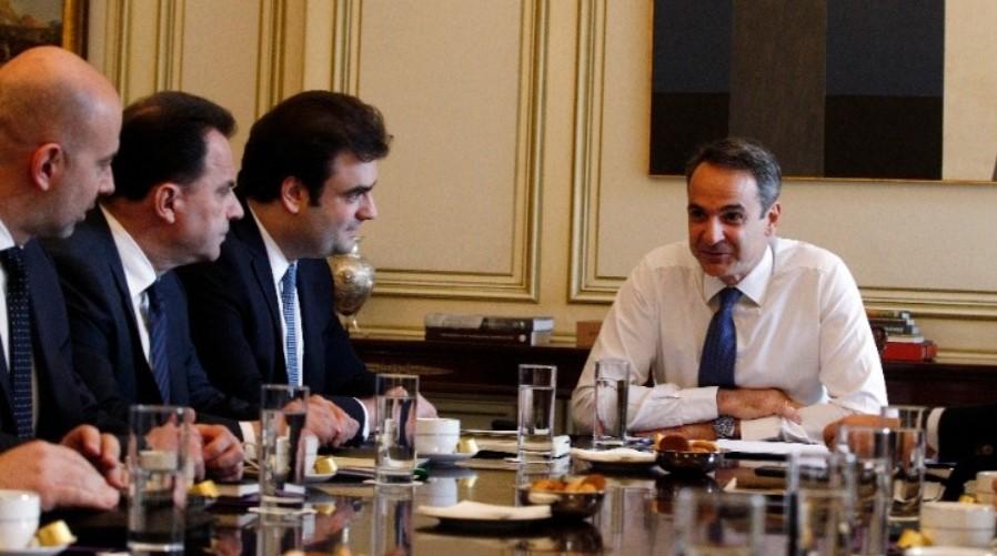 Συνάντηση Μητσοτάκη με τον Υπουργό Ψηφιακής Διακυβέρνησης
