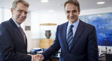Τον πρέσβη των ΗΠΑ, Τζέφρι Πάιατ συνάντησε ο Μητσοτάκης