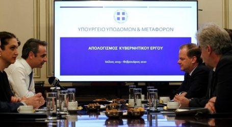 Συνάντηση Μητσοτάκη με την ηγεσία του Υπ. Υποδομών και Μεταφορών