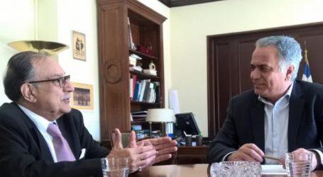 Συνάντηση Σκουρλέτη με τον πρέσβη του Αφγανιστάν στην Ελλάδα