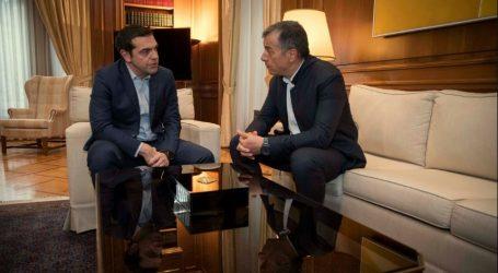 Συνάντηση Τσίπρα- Θεοδωράκη: Η πρόταση του Ποταμιού μπορεί να αποτελέσει βάση συζήτησης