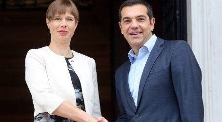 Συνάντηση Τσίπρα με την Πρόεδρο της Εσθονίας