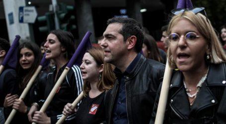 Τσίπρας: Η πρώτη μαζική και ειρηνική αντικυβερνητική διαδήλωση