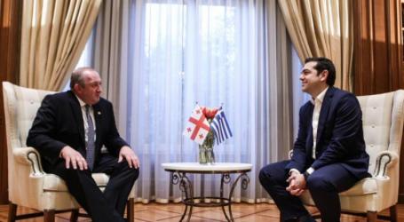 Τον Γεωργιανό πρόεδρο συνάντησε ο Τσίπρας