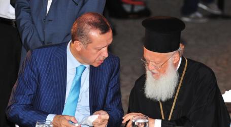Σε εγκάρδιο κλίμα η συνάντηση Ερντογάν με Βαρθολομαίο
