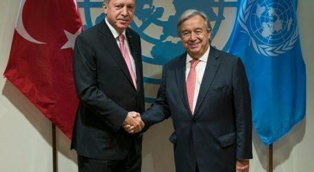 Συνάντηση του ΓΓ του ΟΗΕ Αντόνιο Γκουτέρες με τον Ταγίπ Ερντογάν