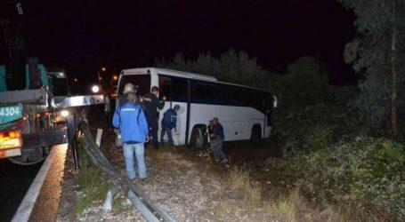 Μυτιλήνη: Εκτροπή λεωφορείου με 22 τουρίστες – Τρεις τραυματίες