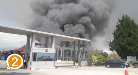Ξάνθη: Δεν υπάρχει επικίνδυνη ατμοσφαιρική ρύπανση μετά την πυρκαγιά του εργοστασίου Sunlight