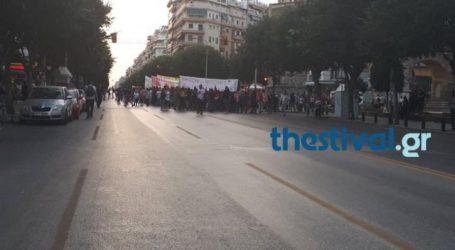 Ένταση στην πορεία για τον Παύλο Φύσσα στη Θεσσαλονίκη