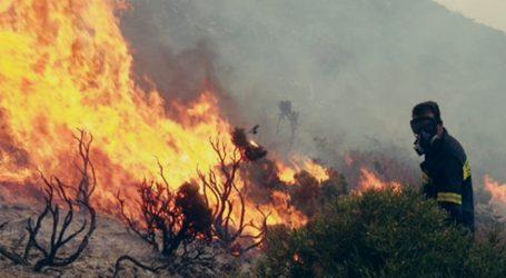 Πολύ υψηλός ο κίνδυνος πυρκαγιάς και σήμερα (χάρτης)