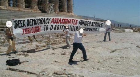 Ρουβίκωνας: Σήκωσε πανό στην Ακρόπολη υπέρ του Κουφοντίνα