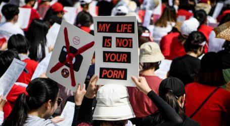 Σεούλ: Ρεκόρ συμμετοχής σε διαδήλωση γυναικών κατά των κρυφών καμερών