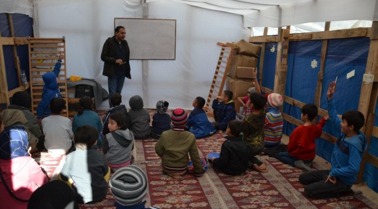 Μυτιλήνη: Το σχολείο των παιδιών του καταυλισμού της Μόριας