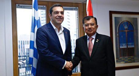 Διμερείς συναντήσεις Τσίπρα με τους αντιπροέδρους της Ινδίας και της Ινδονησίας
