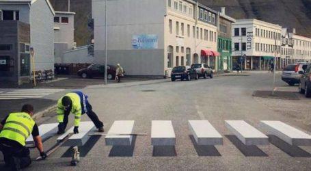 3D διαβάσεις πεζών σε πόλη της Ισλανδίας για να επιβραδύνουν τα αυτοκίνητα (pics)