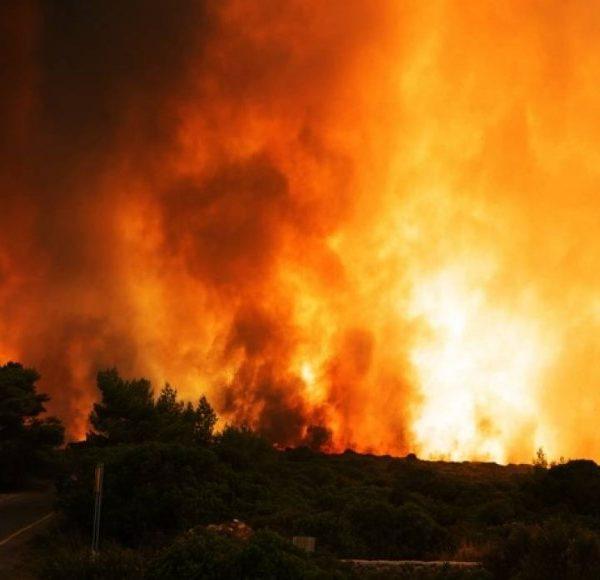 Ζάκυνθος: Ολονύχτια μάχη με τις φλόγες ανάμεσα στα χωριά Έξω Χώρα και Μαριές