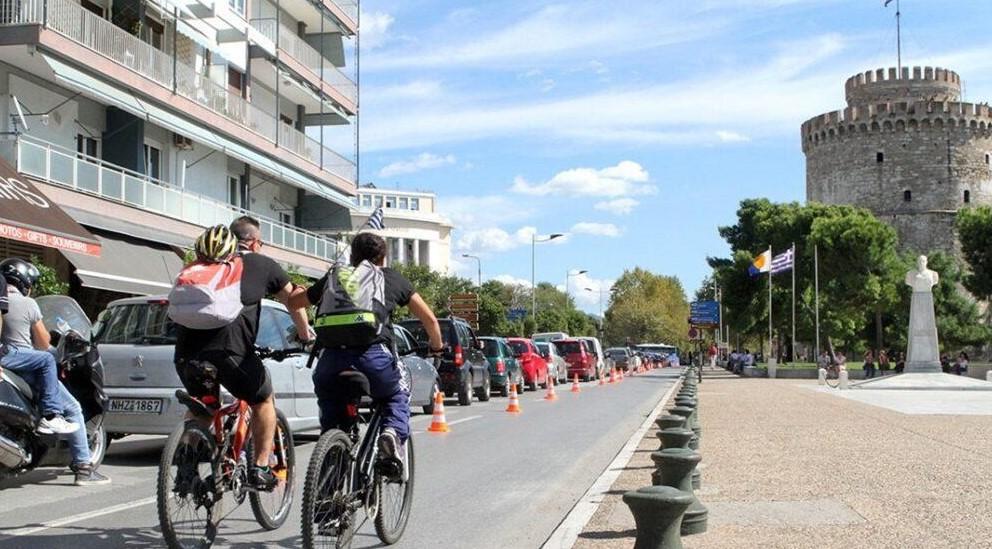 Θεσσαλονίκη: Ξεκινούν οι εργασίες στη Λεωφόρο Νίκης για τον ποδηλατόδρομο