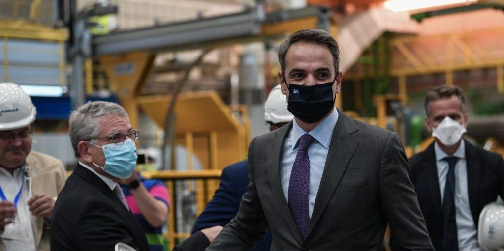 Ο Ελληνας πρωθυπουργος Κυριακος Μητσοτακης στη Συνοδο Κορυφης