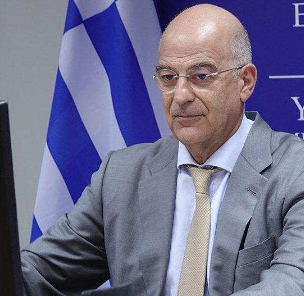 Ο Έλληνας υπουργός Εξωτερικών Νίκος Δένδιας