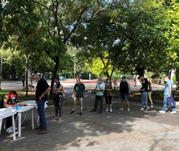 Κορωνοϊός - Πλατεία Κουμουνδούρου