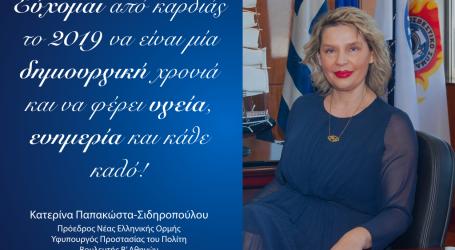 Παπακώστα: Το 2019 αποτελεί ένα έτος-ορόσημο στη σύγχρονη ιστορία της Ελλάδας