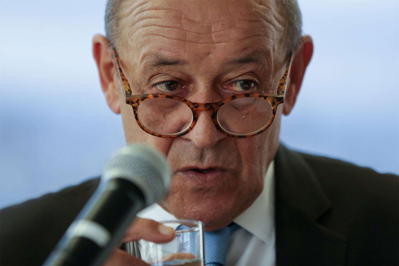 Ο υπουργός Εξωτερικών της Γαλλίας Ζαν-Ιβ Λε Ντριάν