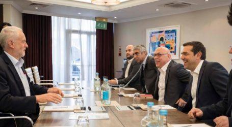 Τσίπρας-Κόρμπιν για τη συνεργασία αριστερών και προοδευτικών δυνάμεων στην Ευρώπη