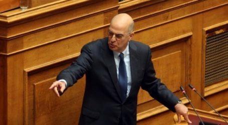 Δένδιας: Δεν θα επιτρέψουμε στην κυβέρνηση να περνάει νομοθετήματα χωρίς να υφίσταται δεδηλωμένη η ψήφος του Κοινοβουλίου