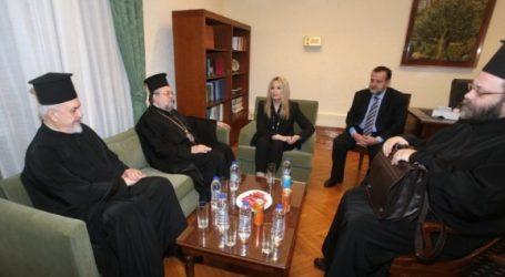 Συνάντηση Γεννηματά με αντιπροσωπεία του Οικουμενικού Πατριαρχείου