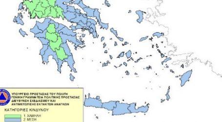 Χάρτης Πρόβλεψης Κινδύνου Πυρκαγιάς για σήμερα
