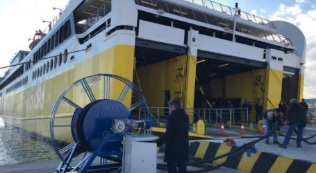 Κυλλήνη: Εγκαινιάστηκε η πρώτη εγκατάσταση ηλεκτροδότησης πλοίων από ξηράς