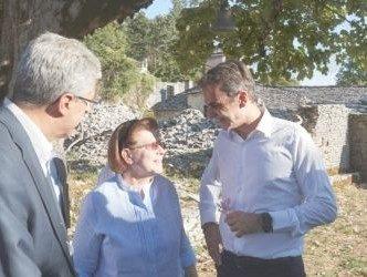 O Μητσοτάκης στη Βίτσα για να υποστηρίξει το αίτημα ένταξης των Ζαγοροχωρίων στον Κατάλογο των Πολιτιστικών Τοπίων της UNESCO