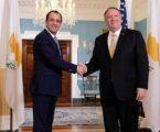 Χριστοδουλίδης-Πομπέο συζήτησαν περαιτέρω αναβάθμιση των σχέσεων Κύπρου-ΗΠΑ στη βάση θετική ατζέντας