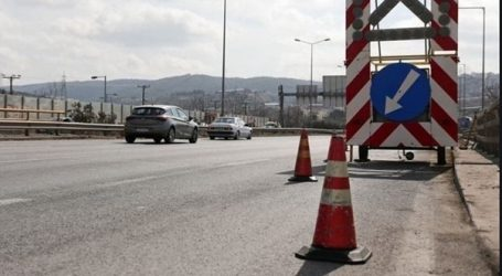 Εργασίες συντήρησης σε οδικό άξονα κοντά στο αεροδρόμιο Θεσσαλονίκης