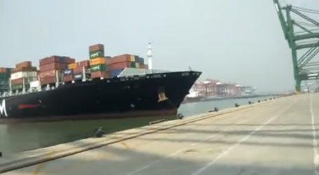 Πλοίο κοντέινερ μήκους 335 μέτρων προσέκρουσε σε προβλήτα