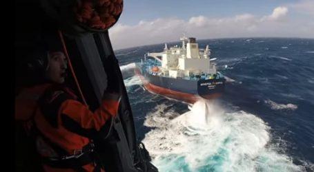 Eντυπωσιακό video από τη διάσωση και την αεροδιακομιδή Έλληνα πλοιάρχου