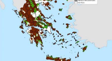 Με επί πλέον 13 εκατ. στρέμματα ο νέος χάρτης των μειονεκτικών περιοχών στην ΕΕ