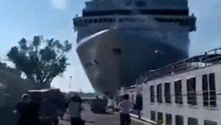 (vid) Βενετία: Κρουαζιερόπλοιο συγκρούστηκε με άλλο πλοίο, τουλάχιστον 5 τραυματίες
