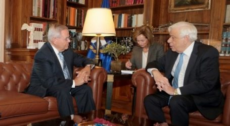 Ο Πρ. Παυλόπουλος δέχθηκε τον Αμερικανό γερουσιαστή Μενέντες