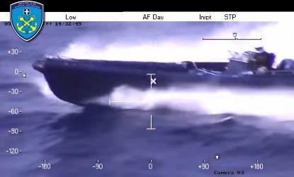 (VID) Kαταδίωξη φουσκωτού σκάφους στο Αιγαίο…