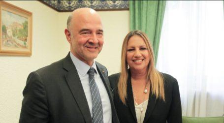 Γεννηματά προς Μοσκοβισί: Με την απόφαση του eurogroup φτωχοποιούνται ακόμα περισσότερο οι Έλληνες